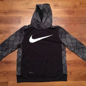 Boys XL Nike hoodie. New with tags. Black and gray